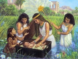 Pharaoh's Daughter Discovers Baby Moses
