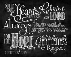 Image result for 1 Peter 3:15