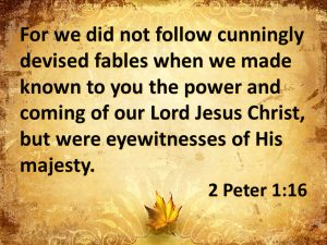 2 peter 1.16 majesty