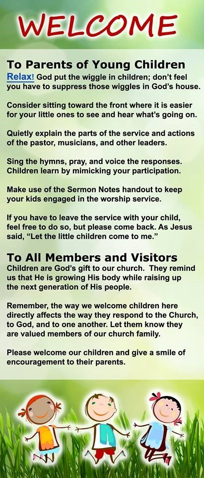 To Parents of Young Children